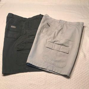 Wrangler khaki cargo shorts bundle